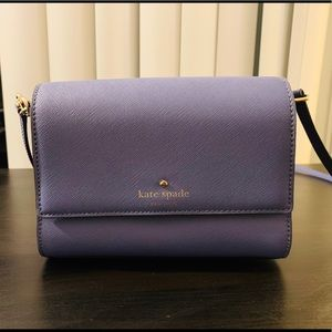 Kate Spade Purple Saffiano Crossbody Bag